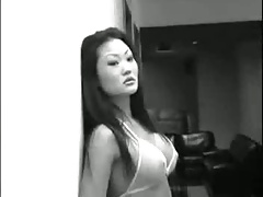 Asian chick does anal -..