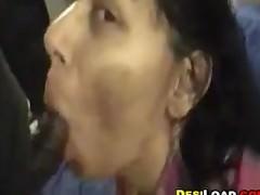 Indian Housewife Sucking..