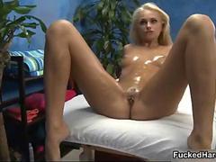 Hot blonde pet gets her..
