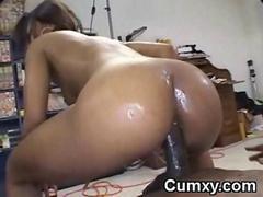 Hot Ebony Teen Fucked Wide..