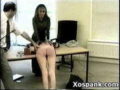 Amazing Spanking Gal Widely..
