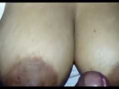 Hubby Boobjob with His Desi..