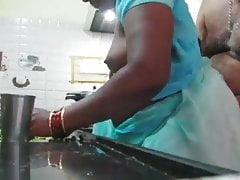 Tamil MILF fucked to Kitchen..