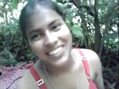 Tamil village girl open-air..