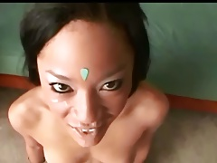 indian type girl POV facial 2